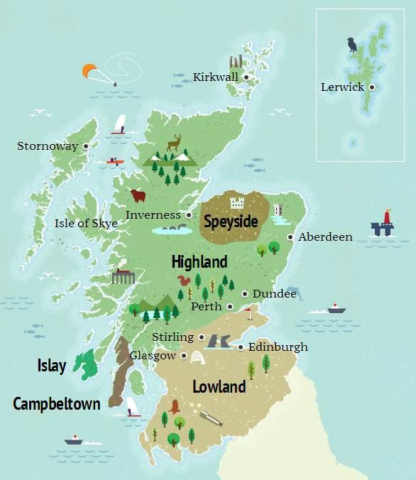 Szkockie regiony whisky