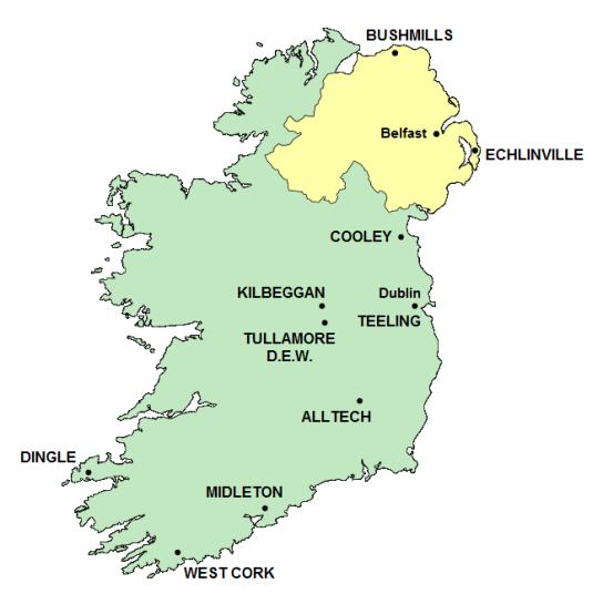 ireland distilleries